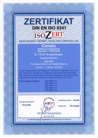 Ergonomie-Zertifikat ISO 9241